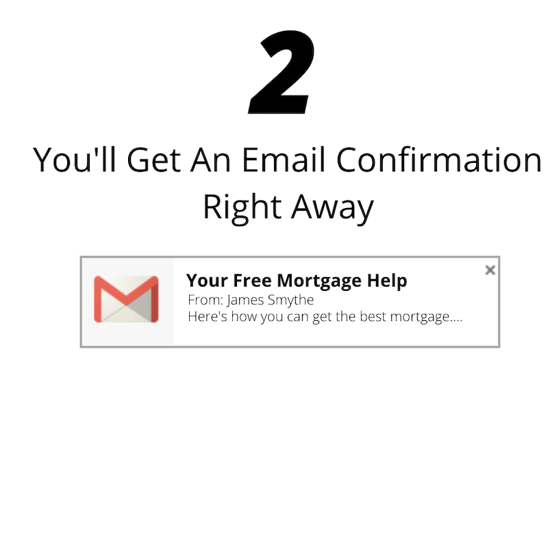 You'll get an email confirmation